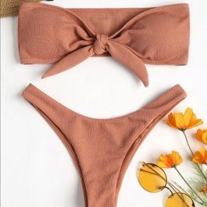 ❤️ 3/30$ Zaful tan bikini with bow